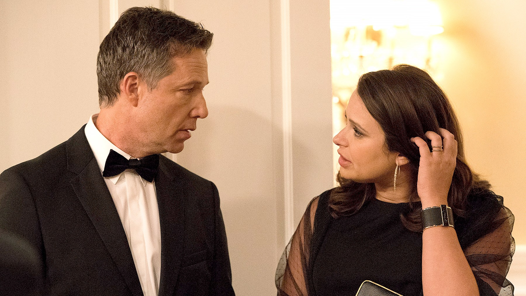 George Newbern and Katie Lowes on Scandal