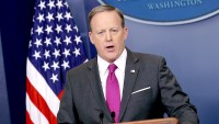 White House Press Secretary Sean Spicer speaks during the daily White House press briefing at the James Brady Press Briefing Room of the White House March 9, 2017 in Washington, DC.