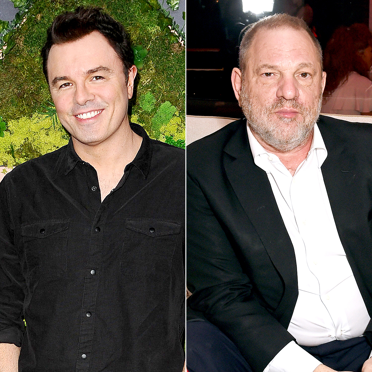 Seth MacFarlane and Harvey Weinstein Jason LaVeris/FilmMagic; Dave Benett/Getty Images for Jaeger-LeCoultre