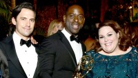 Milo Ventimiglia, Sterling K. Brown, Chrissy Metz attend FOX Broadcasting Company, Twentieth Century Fox Television, FX And National Geographic 69th Primetime Emmy Awards After Party at Vibiana on September 17, 2017 in Los Angeles, California.