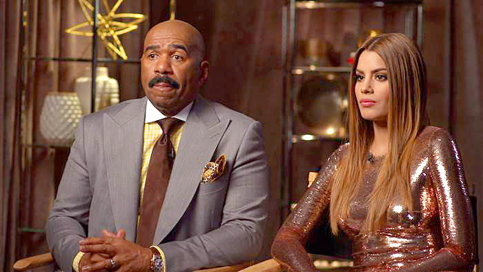 Steve Harvey and Miss Colombia Ariadna Gutierrez