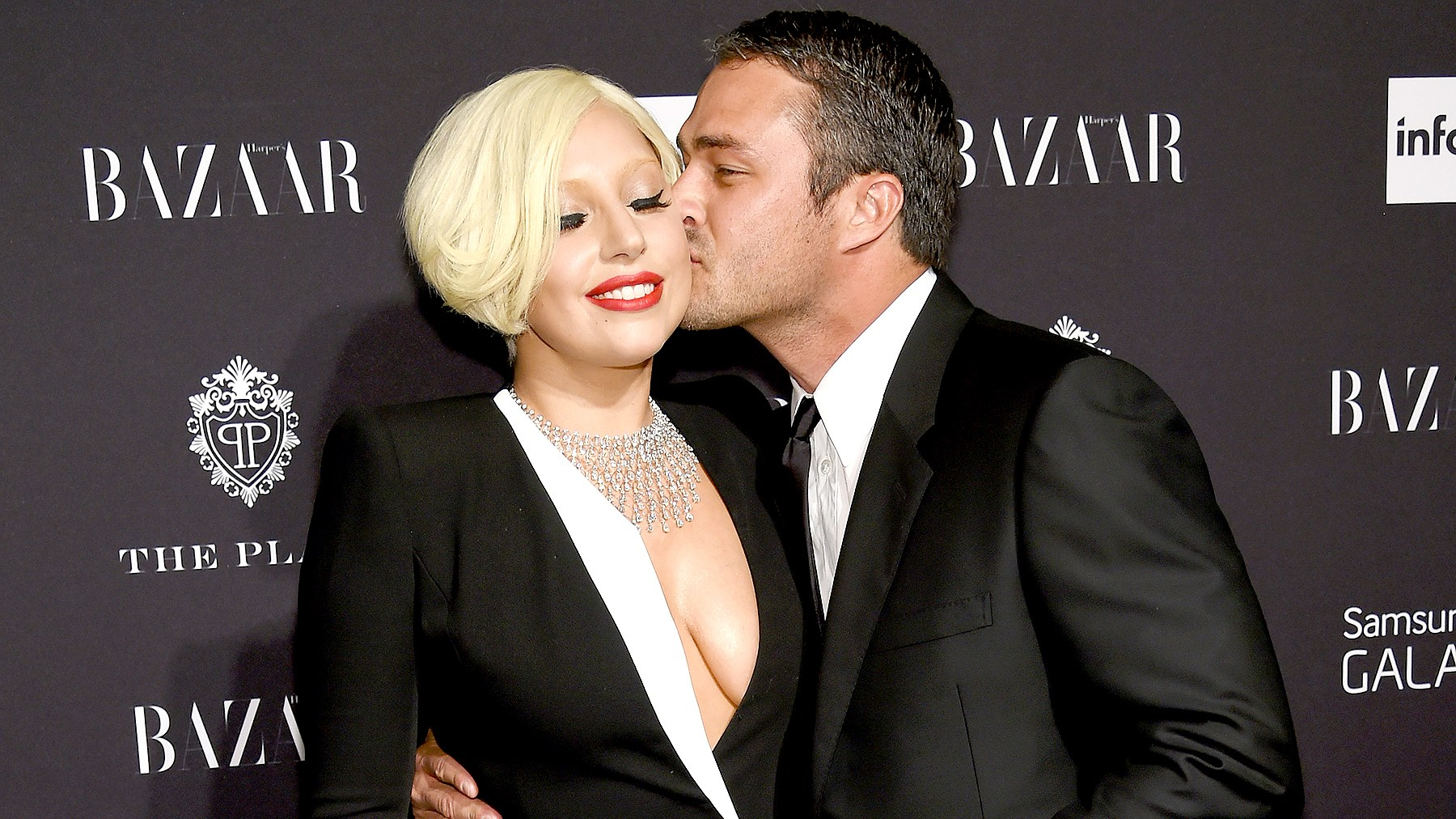 Lady Gaga and Taylor Kinney attend Samsung Galaxy at Harper's Bazaar Celebrates Icons by Carine Roitfeld at the Plaza Hotel on Sept. 5, 2014. Dimitrios Kambouris/Getty Images for Samsung
