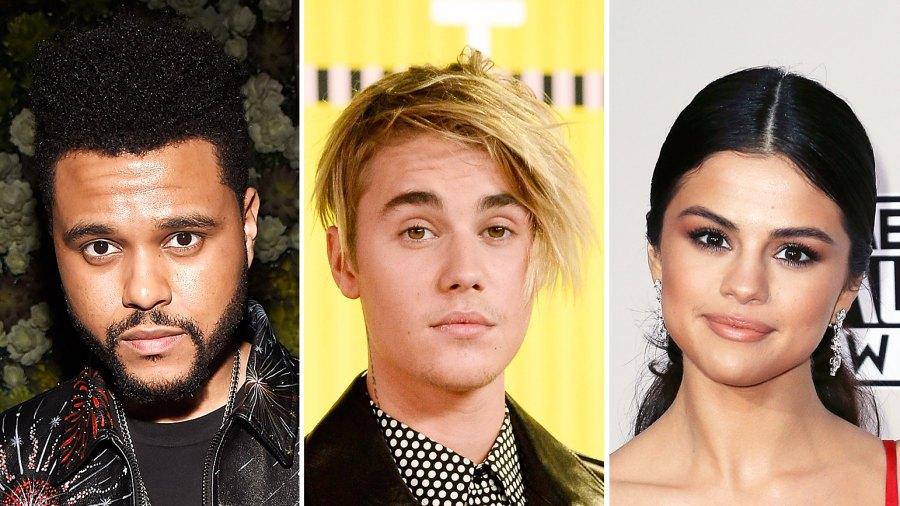The Weeknd Justin Bieber Selena Gomez