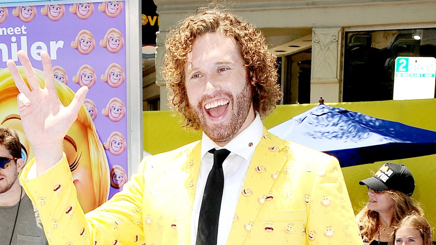 """T.J. Miller attends the premiere of """"The Emoji Movie"""" at Regency Village Theatre on July 23, 2017 in Westwood, California."""