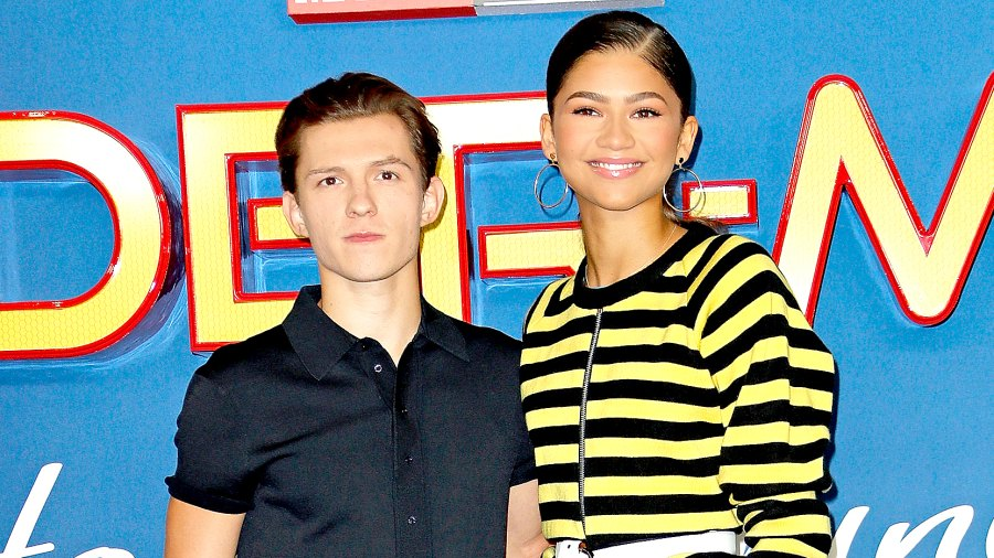 """Tom Holland and Zendaya attend the """"Spider-Man : Homecoming"""" photocall at The Ham Yard Hotel on June 15, 2017 in London, England."""