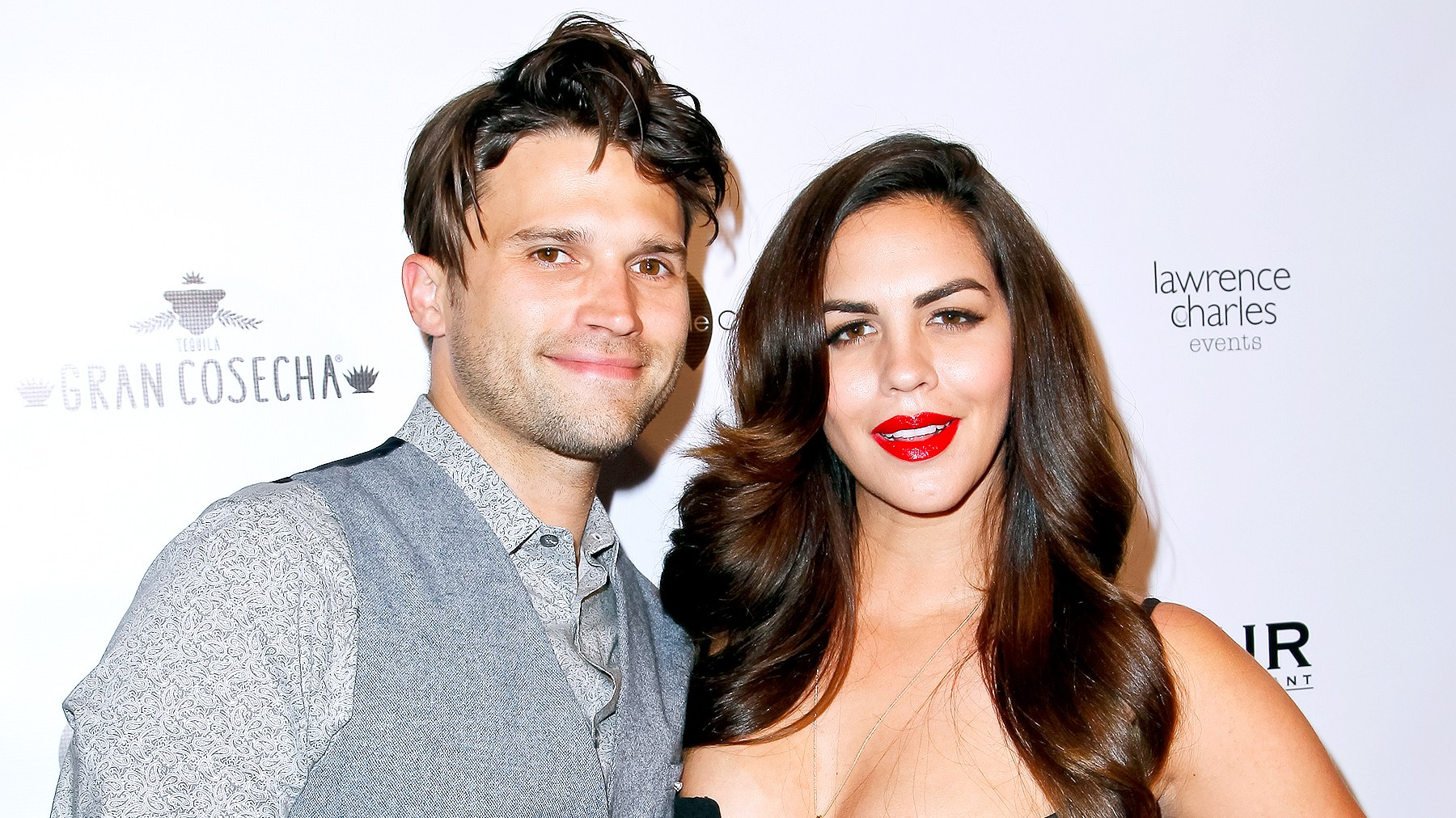 Tom Schwartz and Katie Maloney attend Kyle Chan's 3rd annual #LOVECAMPAIGN Party at SUR Lounge on June 27, 2017 in Los Angeles, California.