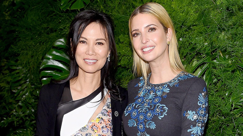 Wendi Murdoch and Ivanka Trump attend the Women's Brain Health Initiative Launch at Urban Zen on March 23, 2015 in New York City.