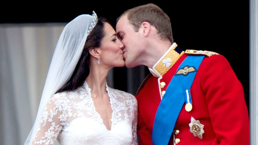 Catherine, Duchess of Cambridge and Prince William, Duke of Cambridge on the balcony at Buckingham Palace following their wedding at Westminster Abbey on April 29, 2011 in London, England.