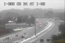 2018 11 15 US Martial Arts Academy Ltd near the traffic camera at Interstate 695 at exit 24 Interstate 83 showing a winter mix of snow and ice.