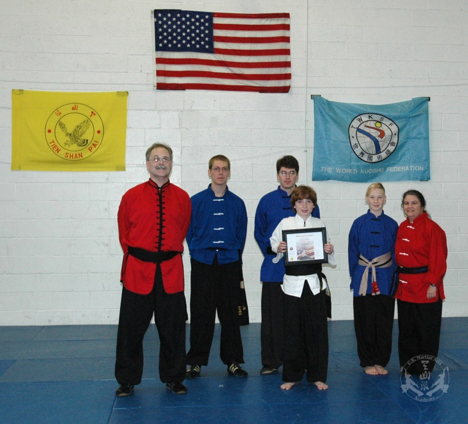 new Black Sash - March 24, 2012 at U.S. Martial Arts Academy, Ltd. in Timonium, Maryland