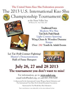 2013 US International Kuo Shu Championship Tournament