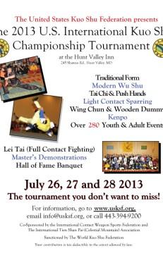 2013 US International Kuo Shu Championship Tournament