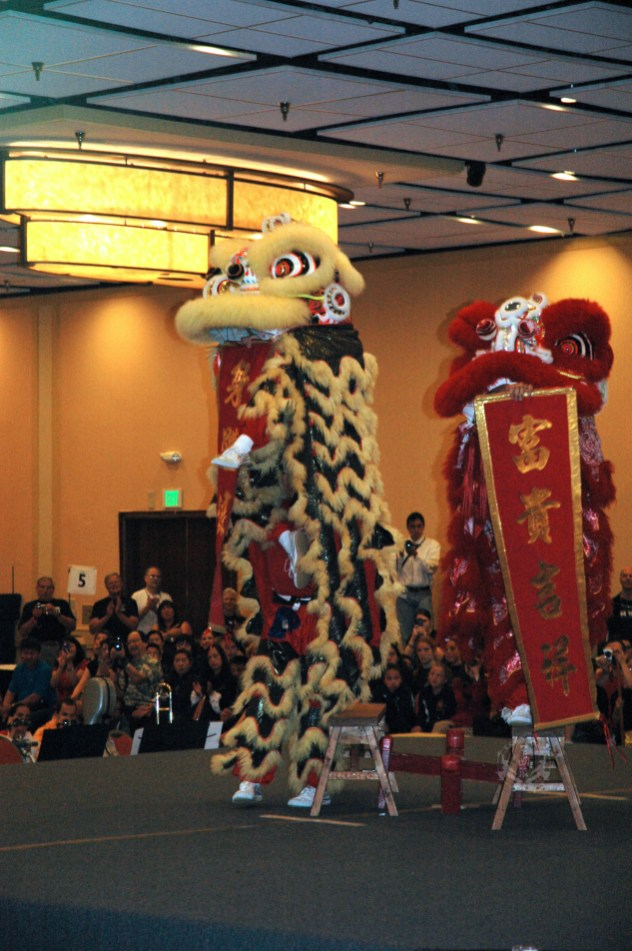 Lion Dance at the 2013 U.S. International Kuo Shu Championship Tournament in Hunt Valley, Maryland