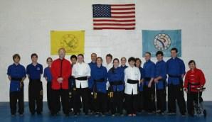 August 2013 Black Sash Test participants at US Martial Arts Academy, Ltd., Timonium, Maryland