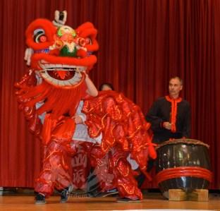 US Martial Arts Academy, Ltd's Lion Dance Performance at Jacksonville Elementary School