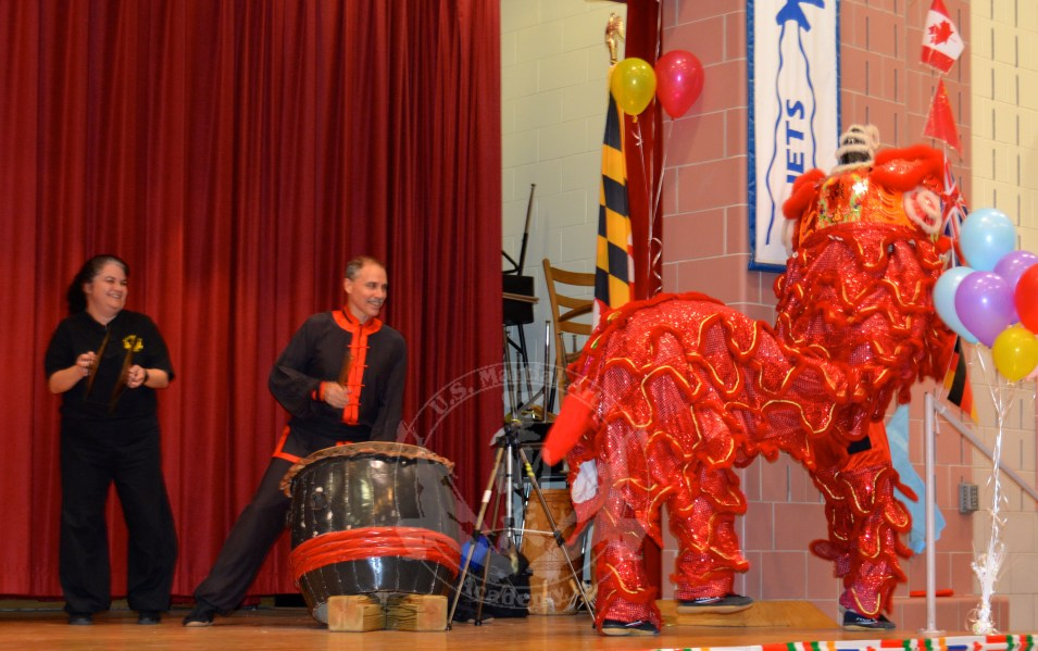 US Martial Arts Academy, Ltd's Lion Dance Performance at Jacksonville Elementary School