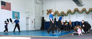Blocker practice in Kung Fu Kids children's self defense class at US Martial Arts Academy, Ltd in Timonium, Maryland 21093, www.usmaltd.com 410-561-9882 ©2015 Maricar Jakubowski All rights reserved.
