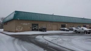 Snowy parking lot, Monday, February 15, 2016 at US Martial Arts Academy, Ltd. in Timonium, Maryland 20193, www.usmaltd.com