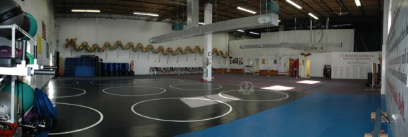 U.S. Martial Arts Academy, Ltd. main classroom right side view -- Kung Fu, Self-Defense, and Tai Chi classes in Timonium, Maryland 21093