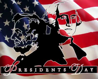 President's Day - Washington and Lincoln graphic for US Martial Arts Academy, Ltd