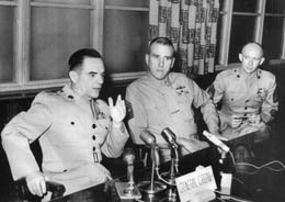 Press conference, Seattle, WA, 1965: CMC Gen. Wallace M. Greene, Jr; SgtMaj of the Marine Corps McHugh and GySgt. McEwen, MARTD, Seattle. Maj. Bob Mo Morrissey turned over the visiting delegations media & speech appearances to me and never interfered. It worked.