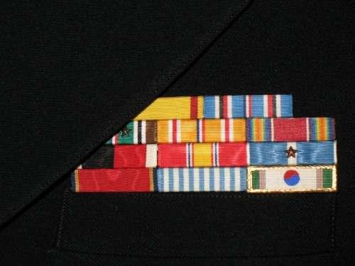 correct precedence for navy ribbon rack