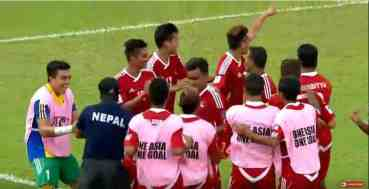 एएफसी सोलिडारिटी कप फुटबल : नेपालले गर्यो गोल ,बराबरीमा अगाडि बढ्दै (लाईभ हेर्नुहोस् )