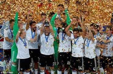 कन्फेडेरेसन कप फुटबलको उपाधि जर्मनीले जित्यो