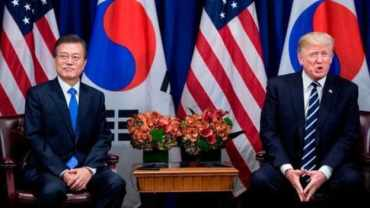 ट्रम्प दक्षिण कोरियामा:उत्तर कोरियाको पारमाणविक खतरासँग जुध्ने