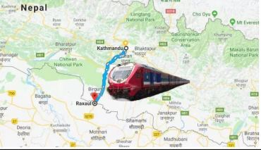 भारतले रक्सौलबाट काठमाडौँ जोड्ने इलेक्ट्रिक रेल बनाइदिने