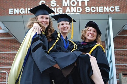 Women graduate from Kettering University in Flint, Mich.