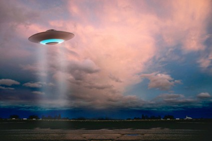 An artist's conception of a UFO