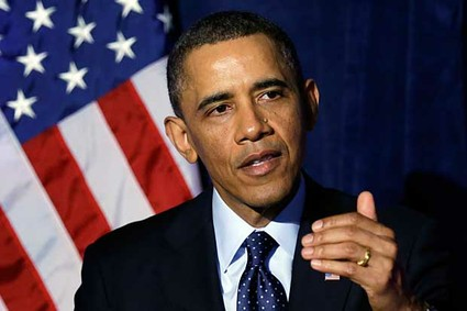 President Barack Obama speaks at the Organizing for Action dinner in Washington, Wednesday, March 13, 2013.