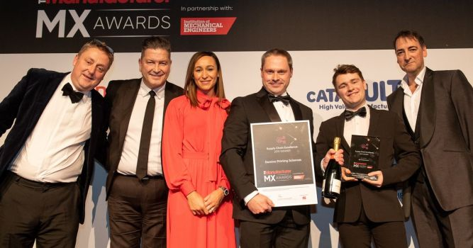 Domino Printing Sciences takes home three prizes at The Manufacturer MX Awards 3