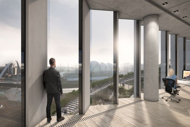 Stunning plans for 12-storey offices on Newcastle Quayside unveiled 4