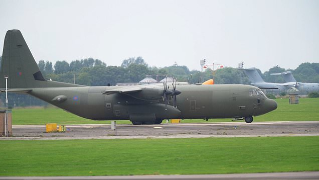 Plane takes off at RAF Brize Norton to evacuate British nationals from Afghanistan