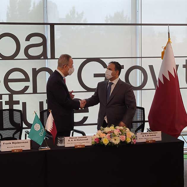 GGGI and Qatar MME sign an MoU and funding agreement to promote climate resilience and green growth in Qatar 3
