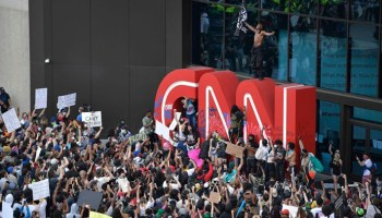 CNN headquarters in Atlanta vandalized by protesters after George Floyd death
