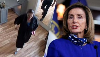 Protesters gather at SF home of Nancy Pelosi, hang up hair curlers after salon visit