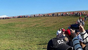 Massive lines at Trump rally in battleground state North Carolina