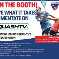 Commentate on SquashTV at the U.S. Open
