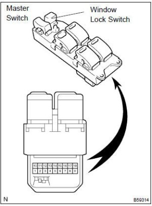 Power Window Master Switch 25401EB30B for Nissan Navara