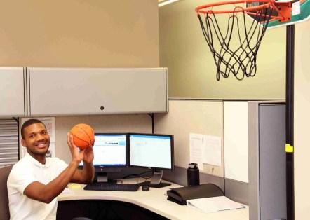 Kervand Loiseau playing basketball