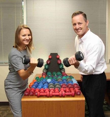 Scott and Meri at USPM Gym