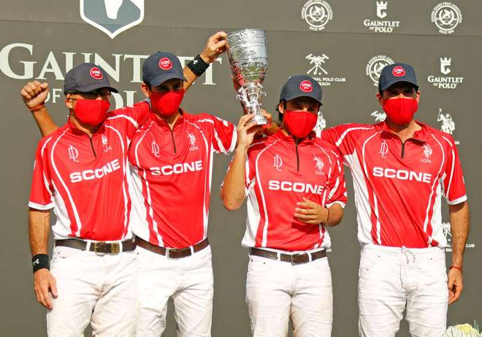 2021 U.S. Open Polo Championship® Winners: Scone- David Paradice, Poroto Cambiaso, Peke Gonzalez and Adolfo Cambiaso.