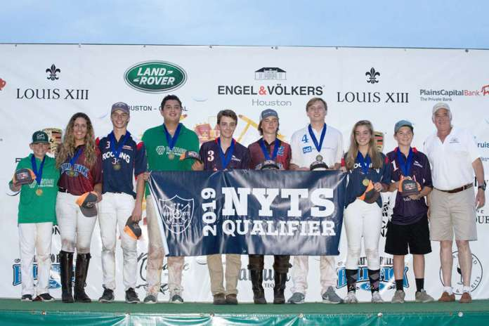 2019 Houston NYTS Qualifier All-Stars: Joe Bob Lequerica, Athena Malin, Grayson Price, Johann Felhaber, Cipi Echezarreta, Jack Whitman, Vance Miller, Bridget Price, Will Mudra, pictured with USPA Governor at Large Steven Armour.