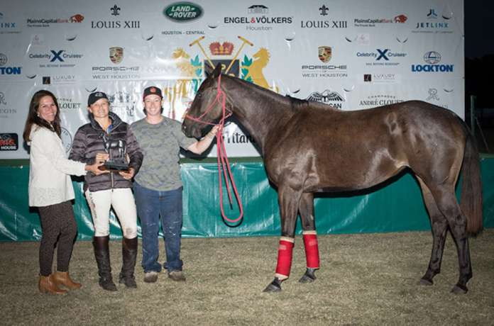 American Quarter Horse Association (AQHA) Best Playing Pony: Indigo Wood, played by Tiamo Hudspeth, presented by Kristy Outhier and pictured with Morgan Dean.