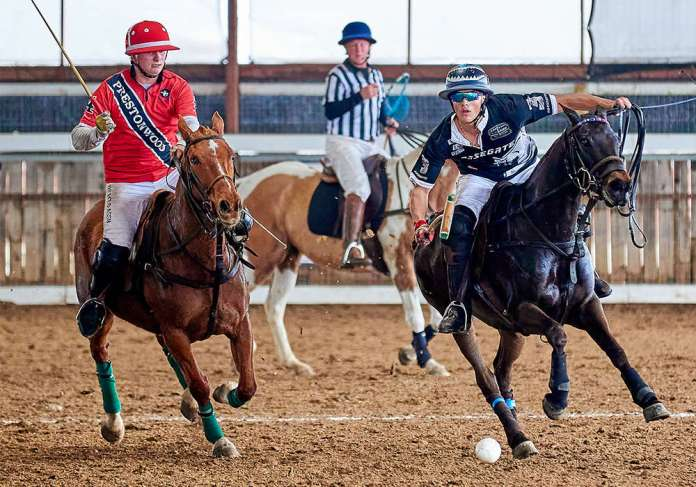 Horsegate's Lance Stefanakis marked by Prestonwood Green's Vance Miller III in the Southwester Circuit General George S. Patton, Jr.