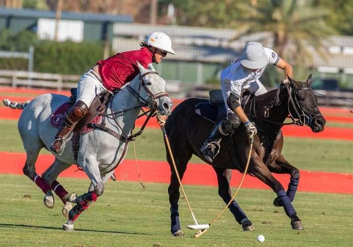 Antelope's Santiago Trotz attempting the hook on Cavallo Ranch's Alejandro Gonzalez.