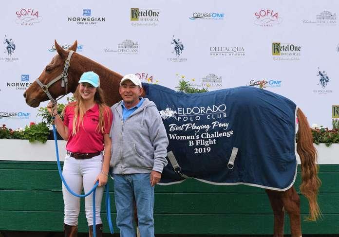 B Flight Best Playing Pony, Blanca, pictured with Cory Williams and Tiburcio Brita ©Kerri & Hope Kerley.